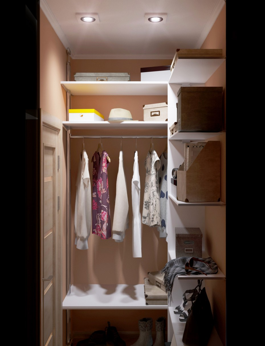 Walk-in Closet in 3d max vray image