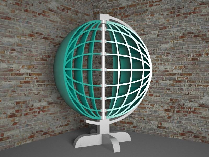 Globus_1 3d max vray 3.0 में प्रस्तुत छवि
