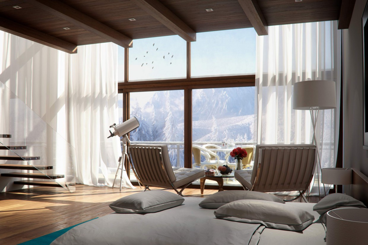 Workshop snow room!!  in  3d max   vray  image