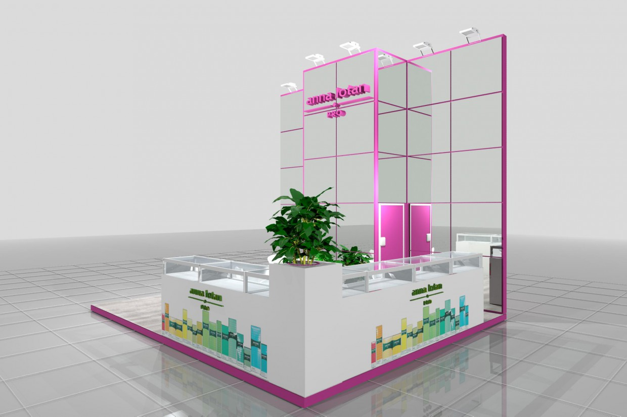 The exhibition stand of Anna Lotan in 3d max mental ray image