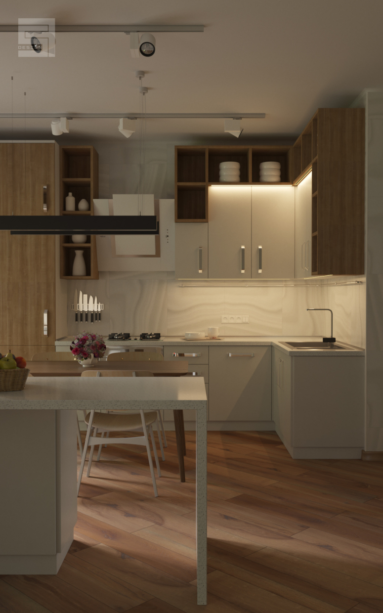 kitchen / kitchen in 3d max corona render image