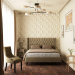 hotel room in 3d max corona render image