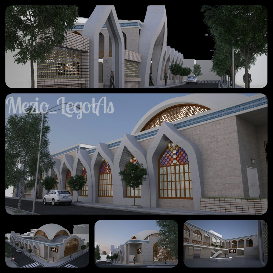 3d визуализация проекта Мес Galikesh в 3d max, рендер vray от MehrAz, Mohammad bagherzadeh