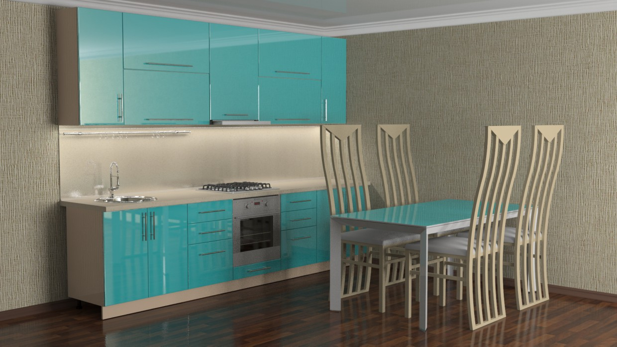 Kitchen 1 in 3d max vray 2.5 image