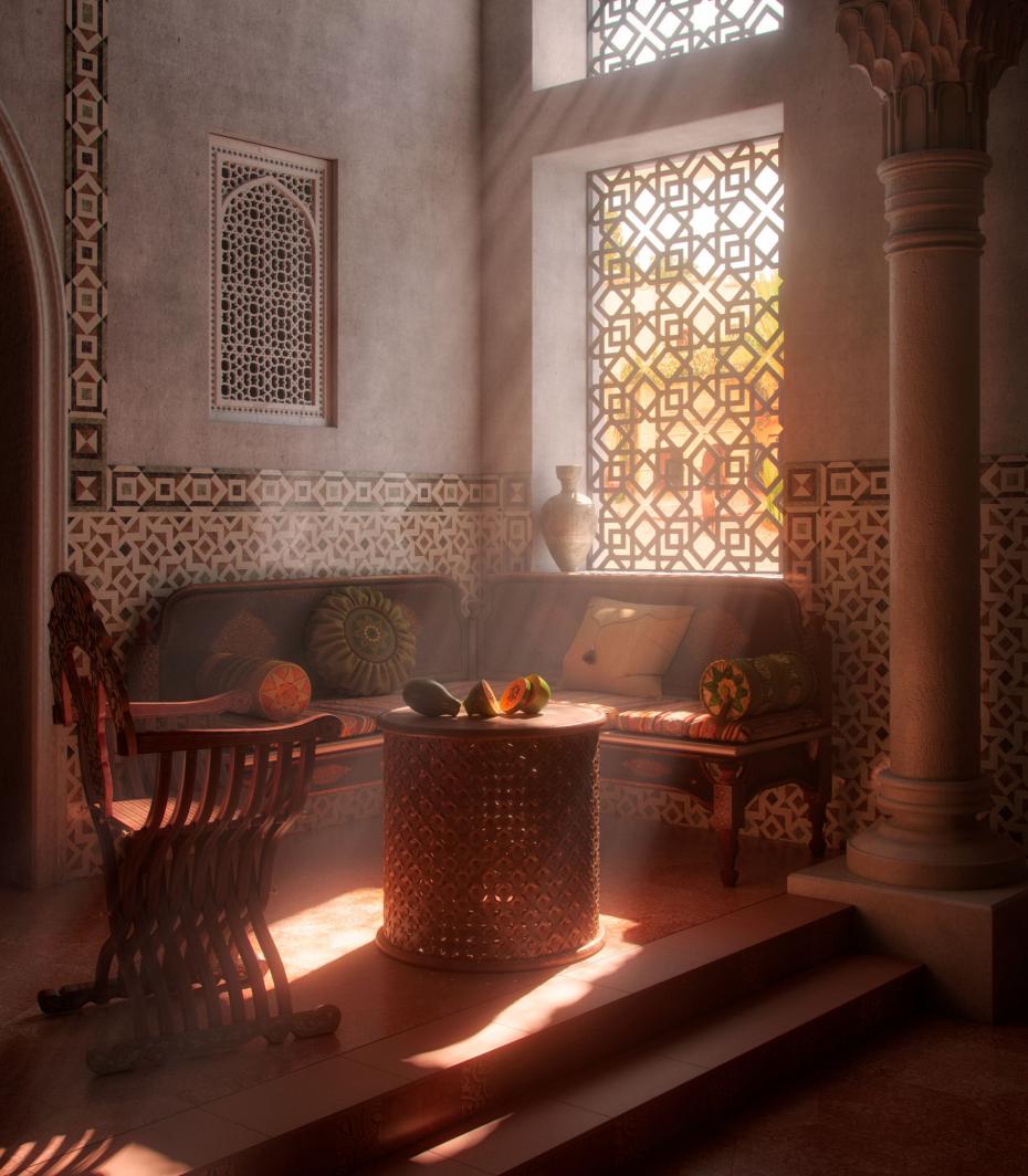 Arabesque. in 3d max corona render image