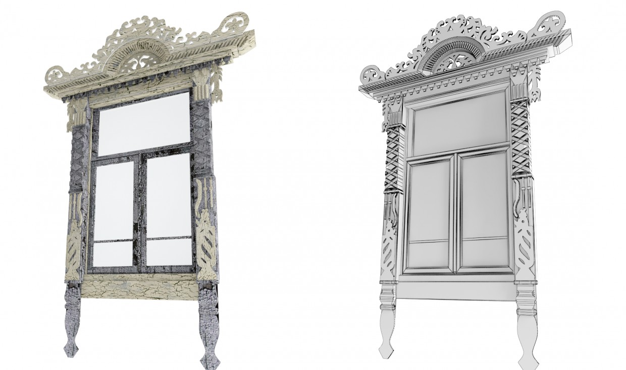 Carved paneling in Blender vray image