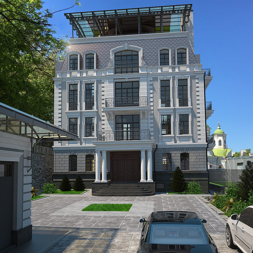 Житловий будинок в 3d max vray 2.5 зображення