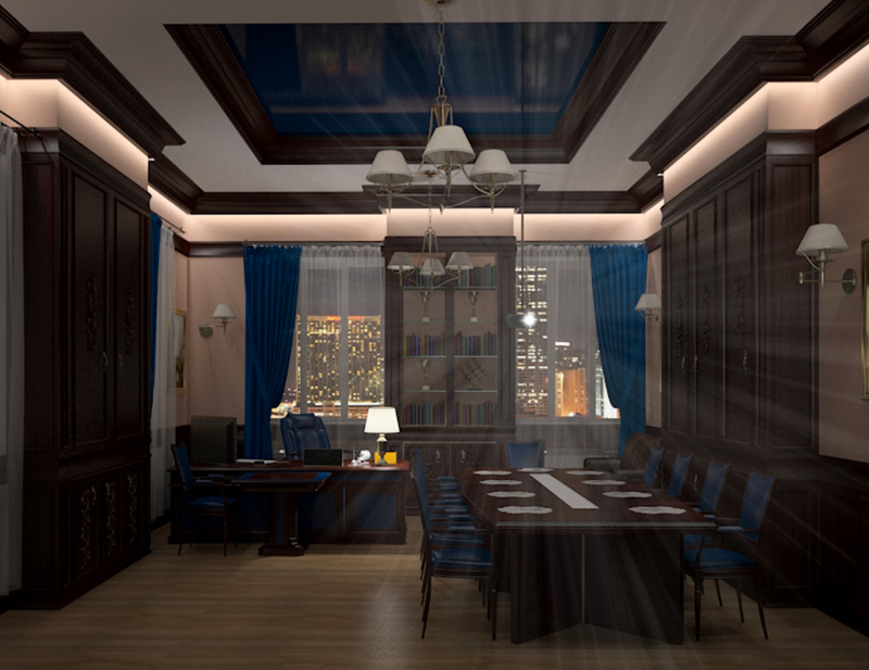 Office room in 3d max vray 3.0 image