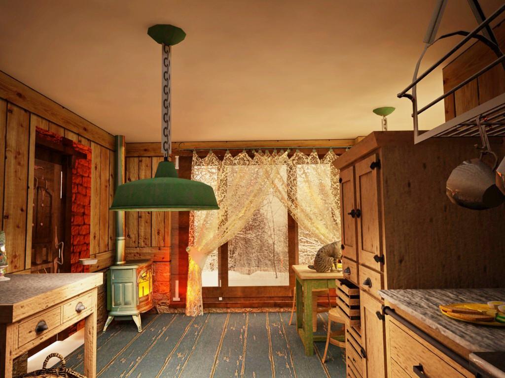 домик из серии very small house в Cinema 4d vray изображение