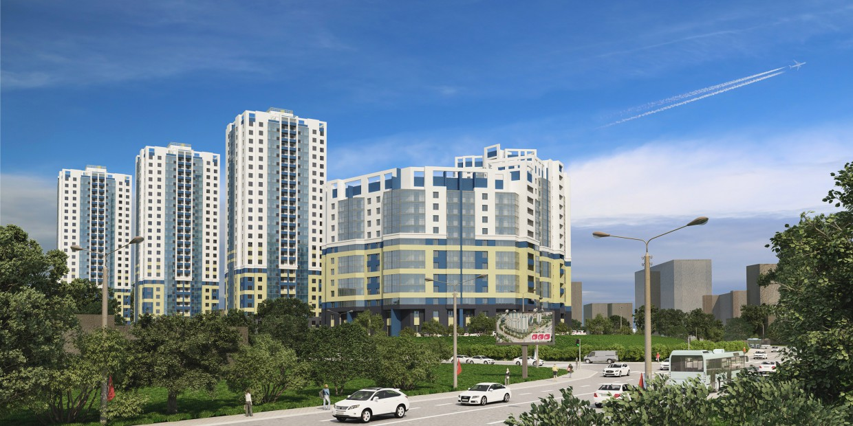 """Residential complex """"Flagman"""" in 3d max corona render image"""