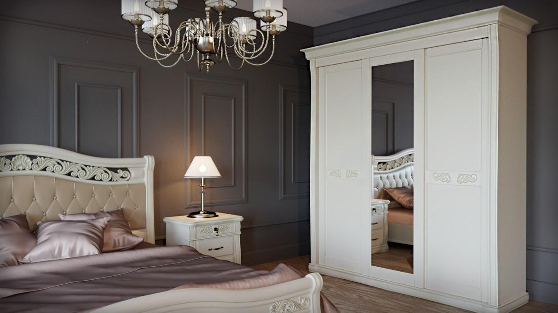Спальня барокко в 3d max corona render изображение