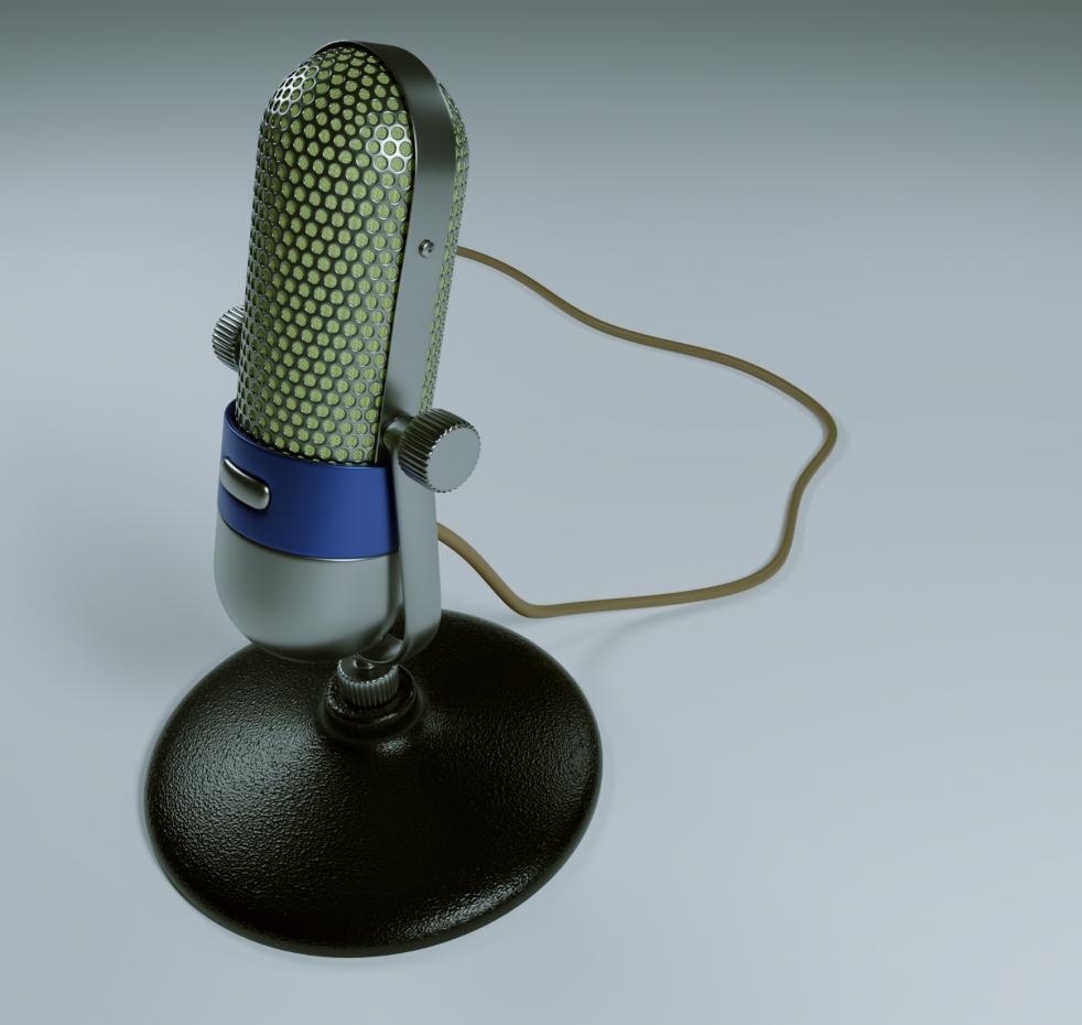 microphone in Blender cycles render image
