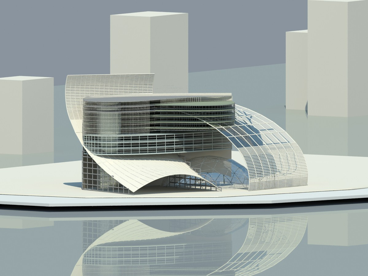 architectural fantasy in 3d max vray image