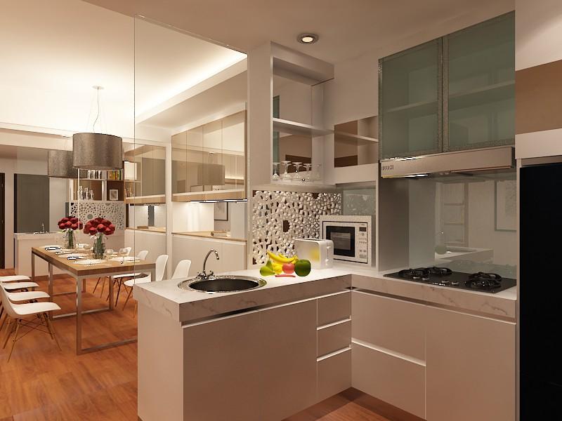 Маленькие но функциональные апартаменты в 3d max vray изображение