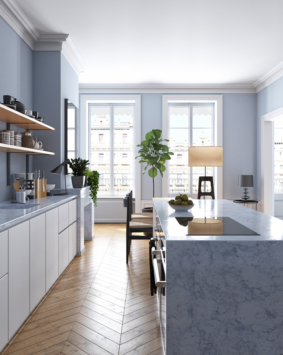 French kitchen in 3d max vray 3.0 image