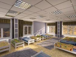 dormitorio grande del jardín de la infancia