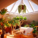3d visualization of the project in the House with attic-greenhouse Cinema 4d, render vray of elementa
