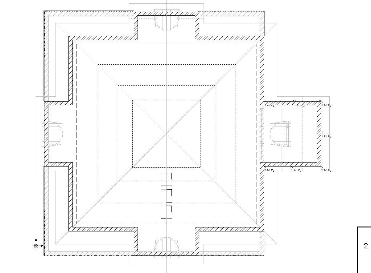 дом с мансардой-оранжереей в Cinema 4d vray изображение
