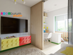 Children's room in the style of LEGO