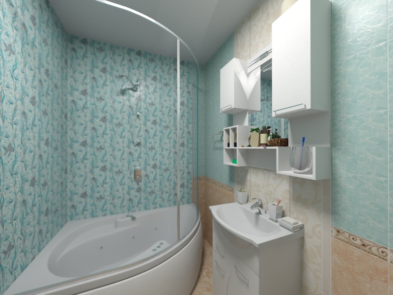 3d visualization of the project in the Bathroom 3d max, render vray of natrixoid