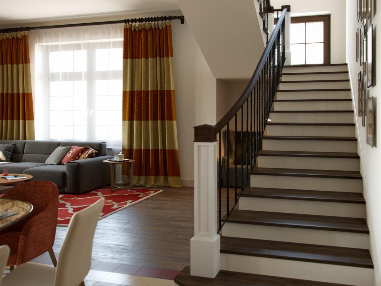Living room + bedroom + nursery for a girl in 3d max corona render image