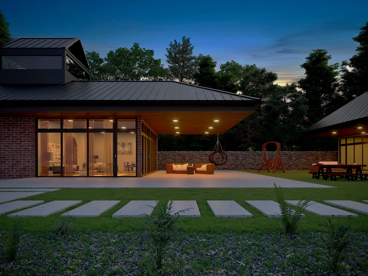 3D Visualization Exterior in 3d max corona render image