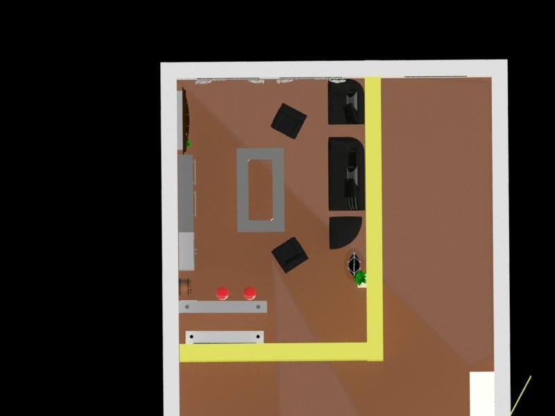 Холостяцька кімната в 3d max mental ray зображення
