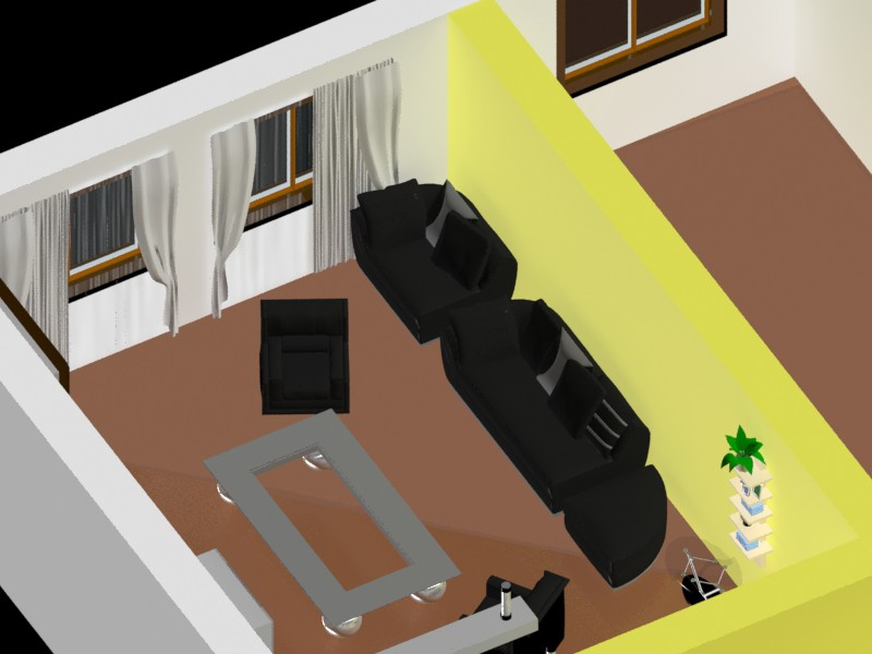 Bachelor room in 3d max mental ray image