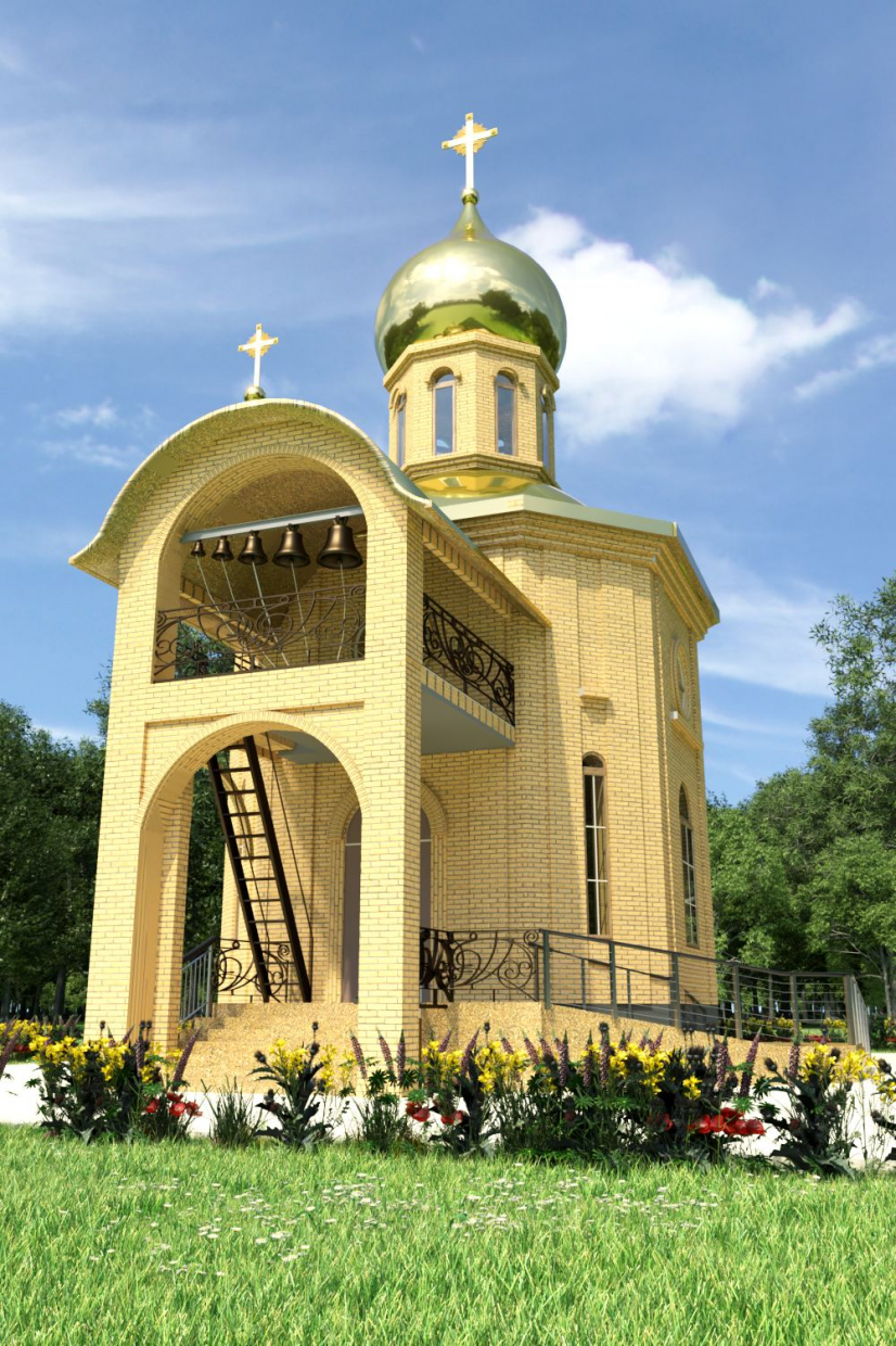 Belfry to the Chapel in ArchiCAD corona render image