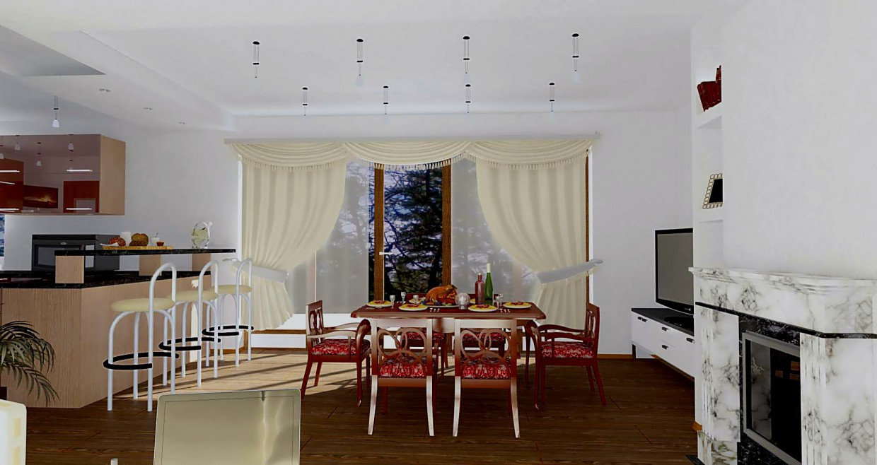 the same House 1 floor in 3d max vray image