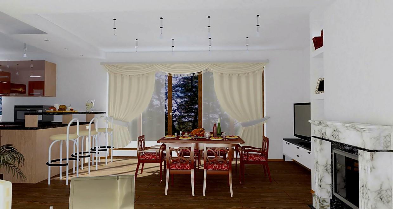 imagen de la misma casa de 1 piso en 3d max vray