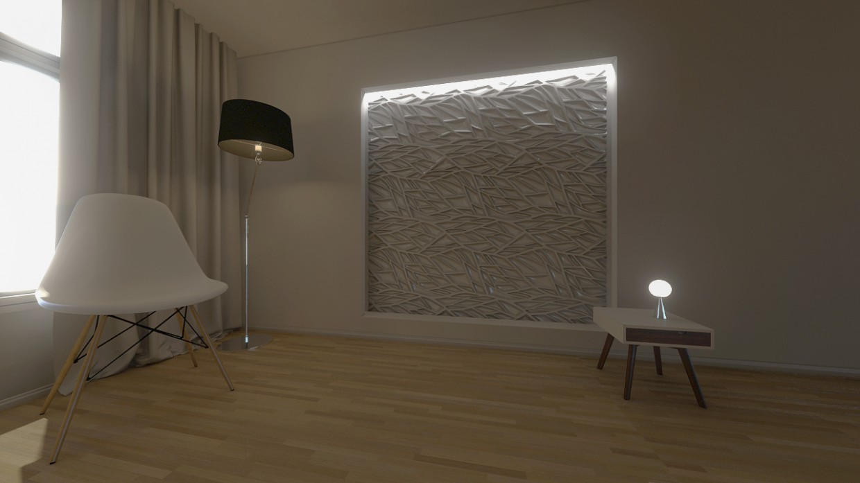 3d visualization of the project in the design 3d max, render mental ray of bilal mezzari