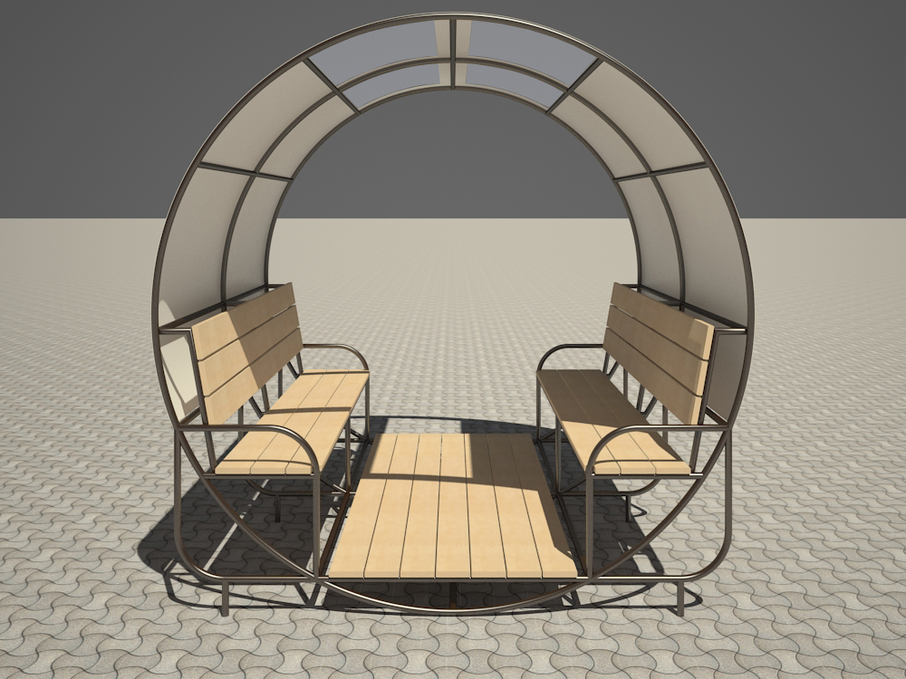 Rocking chair in 3d max vray 2.5 image