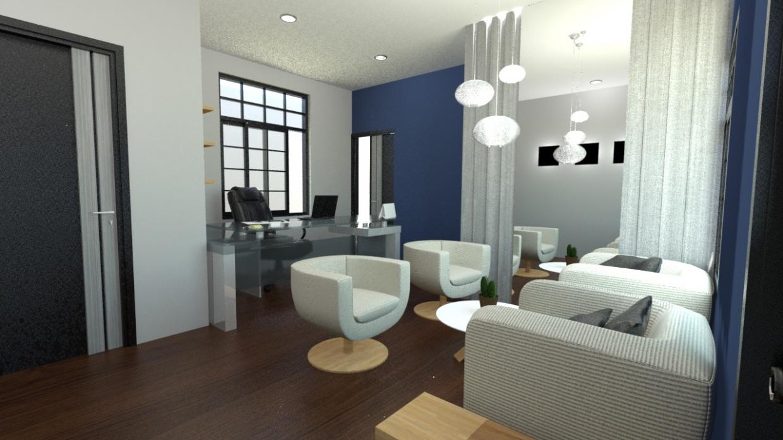 छोटा कार्यालय 3d max mental ray में प्रस्तुत छवि