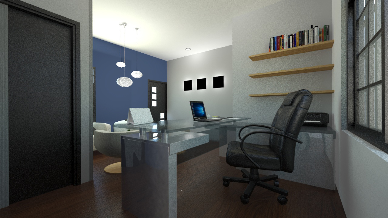small office in 3d max mental ray image