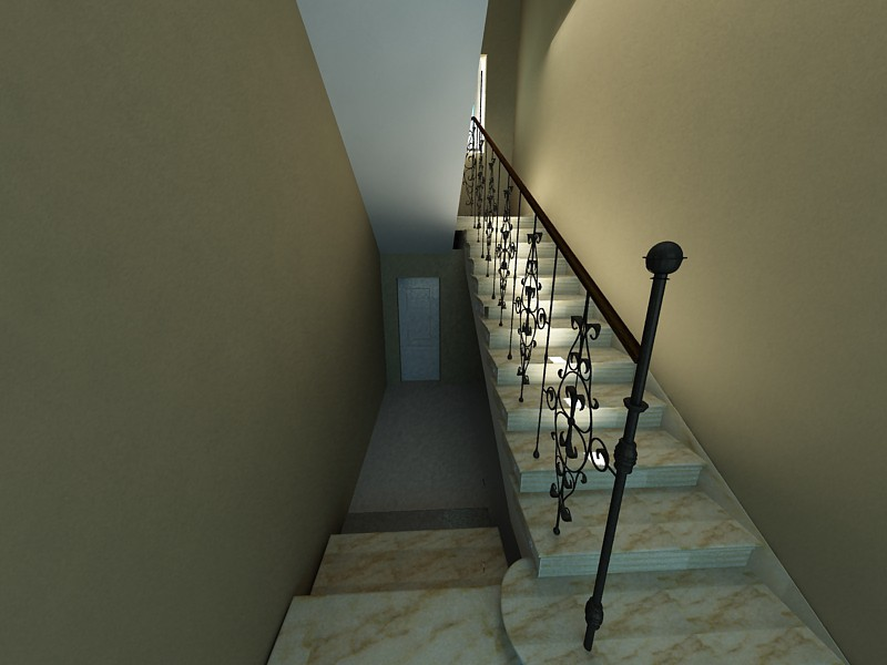 Lestnica в 3d max vray изображение