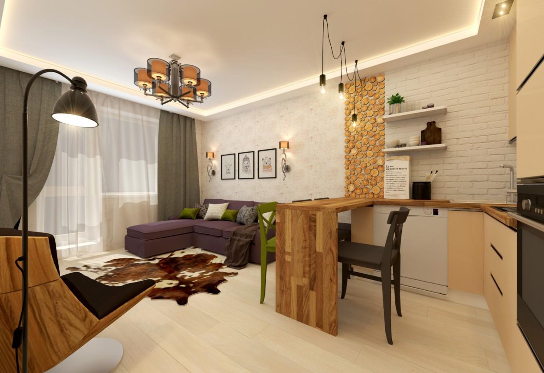 Кухня-гостиная в 3d max vray 2.0 изображение