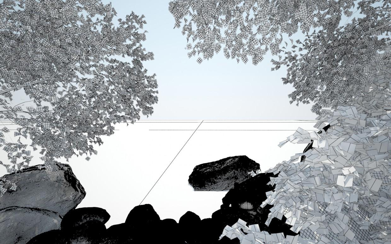 Берег моря, літо! в 3d max vray зображення