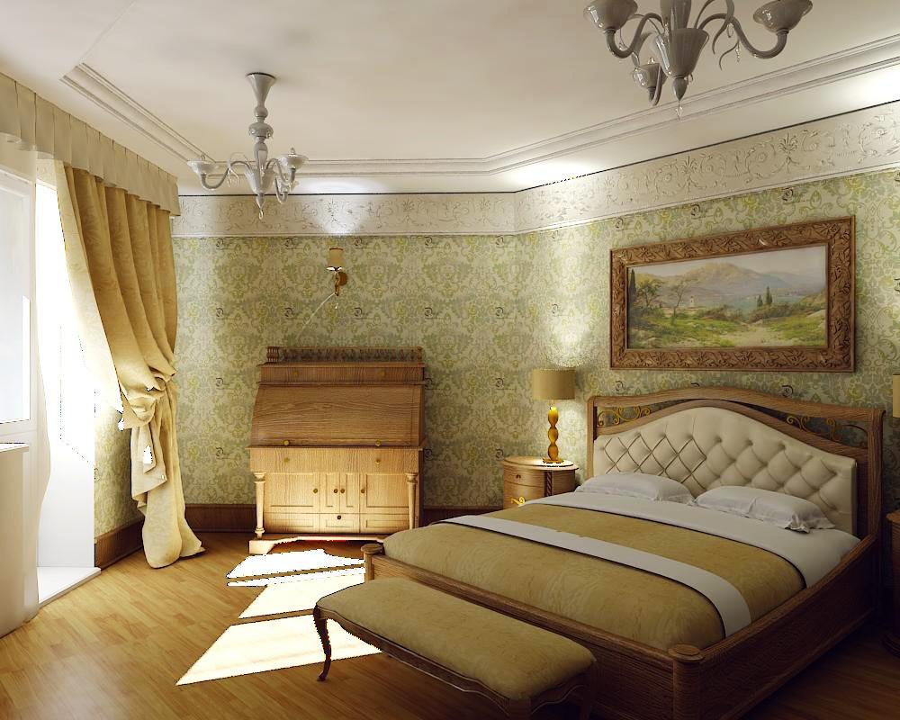 спальня класична в 3d max vray зображення