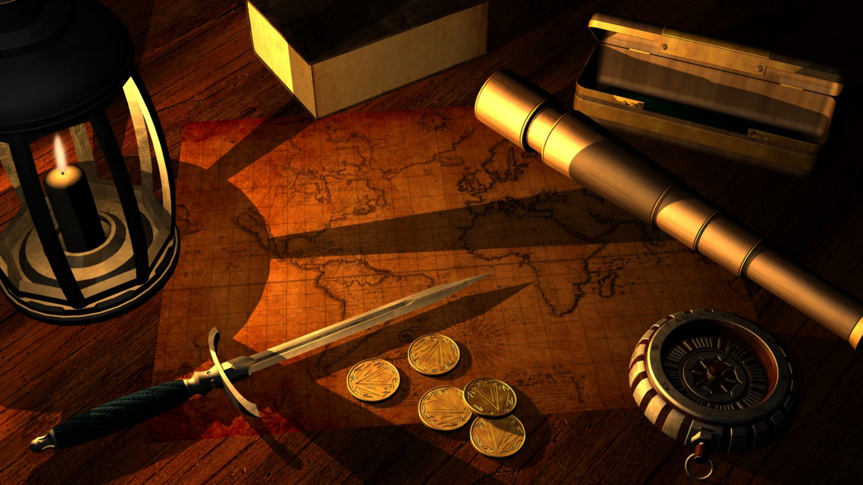 imagen de Mesa del capitán en 3d max mental ray