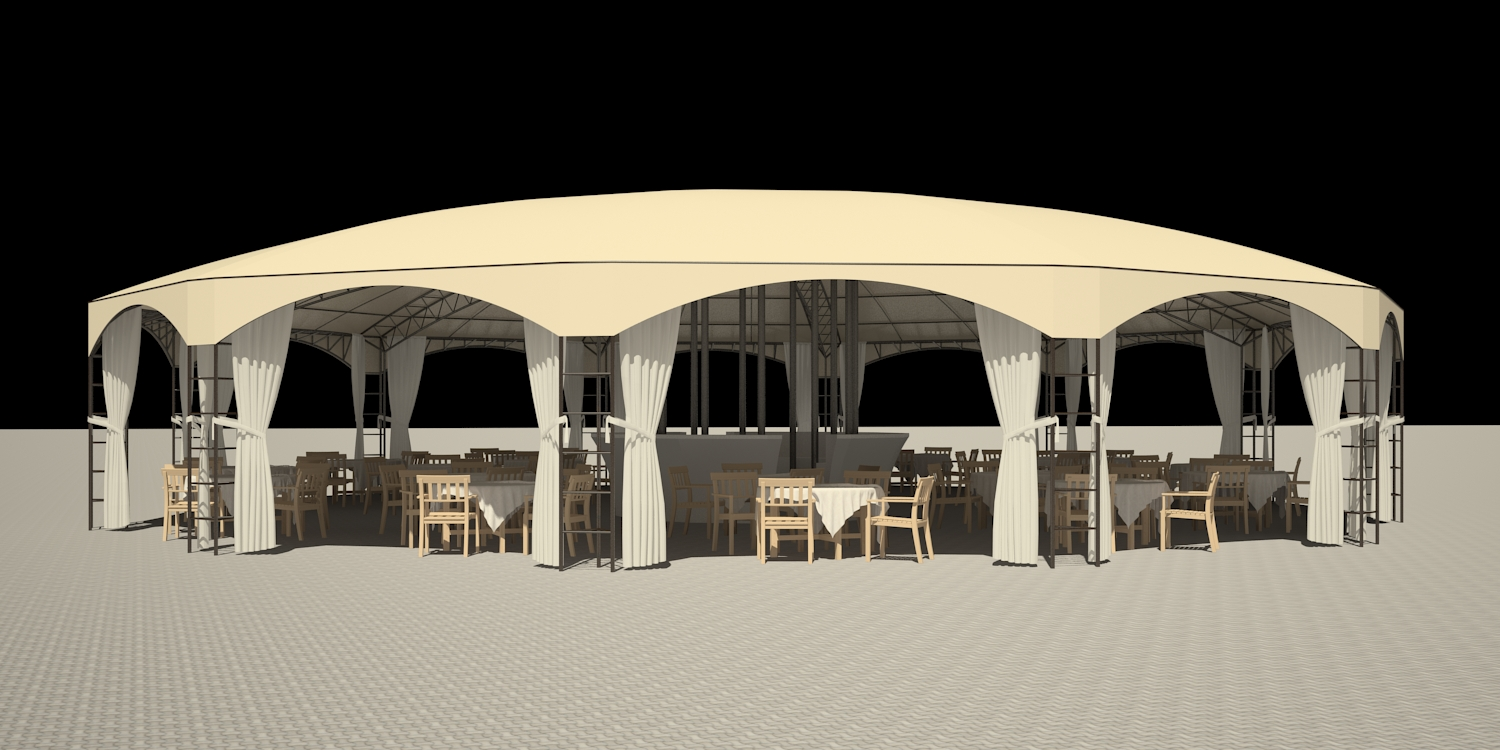 3d visualization of the project in the Umbrella 3d max, render vray 2.5 of inna_s