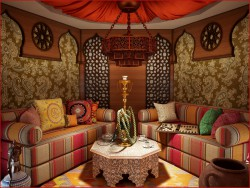 Ethnic-styled room