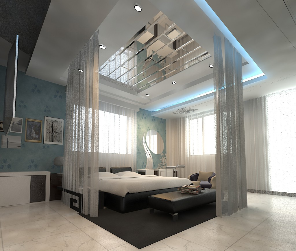 bed room in 3d max vray image