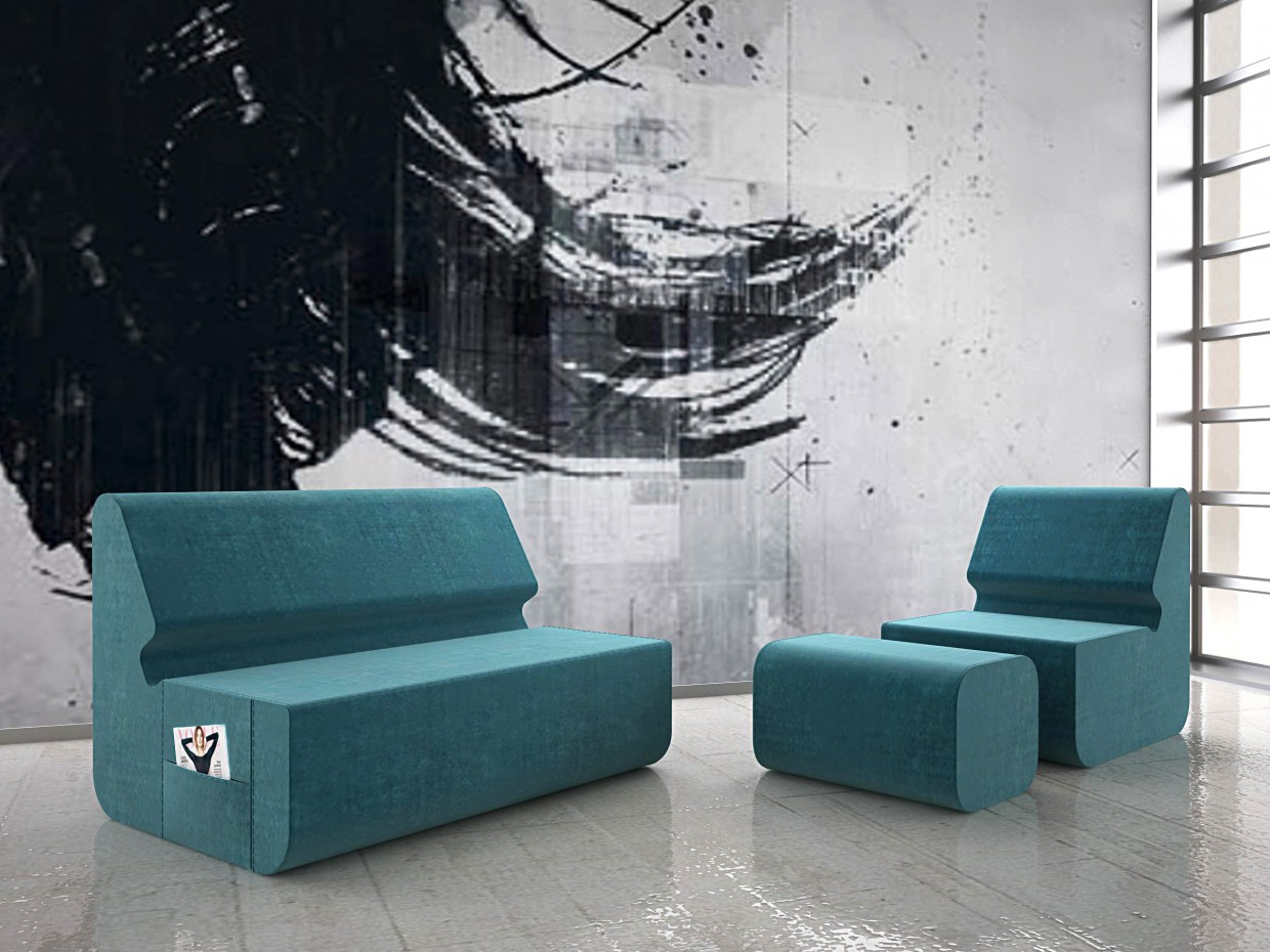 Design of upholstered furniture in 3d max vray image