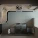 imagen de cocina en la casa del panel en Blender cycles render
