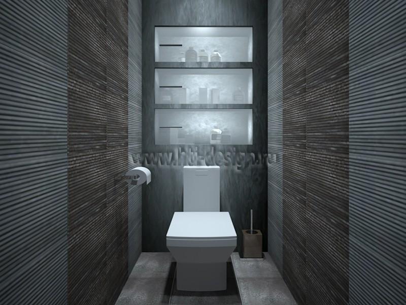 imagen de El Interior de un baño en el estilo de neobrutalizm en 3d max vray