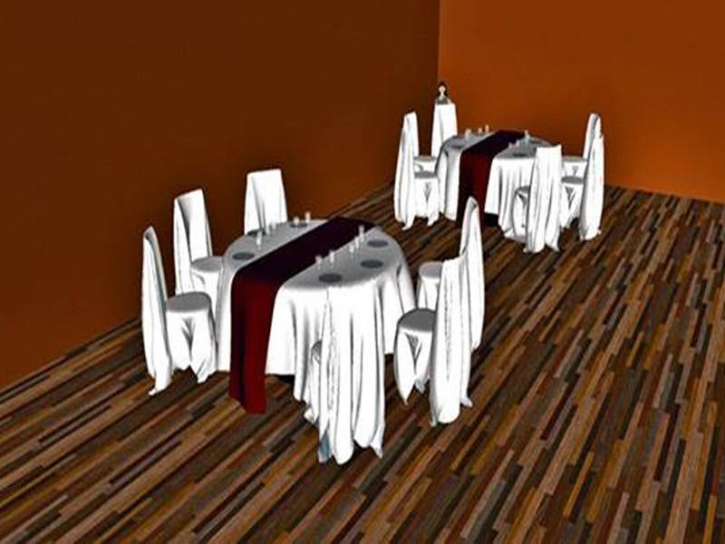 Cтол и стулья с тканью в 3d max Other изображение