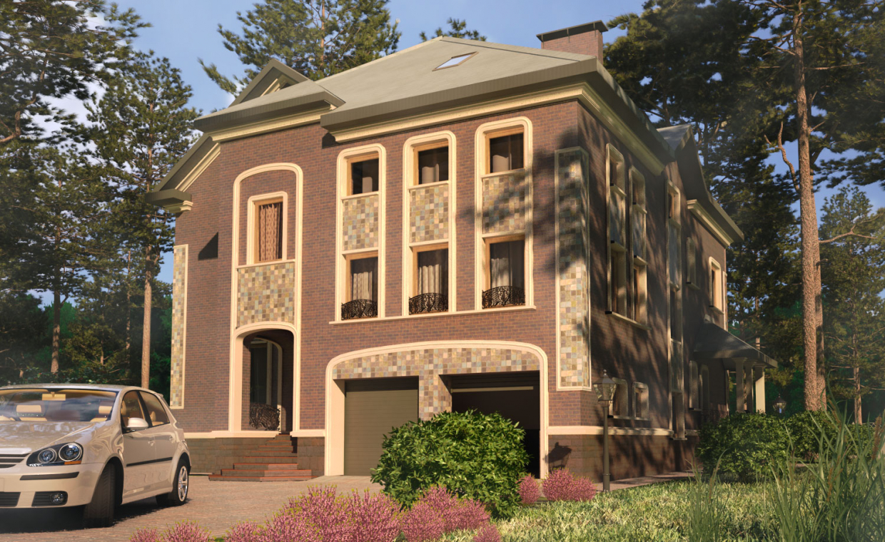 "cottage ""Freya"" in 3d max YafaRay image"