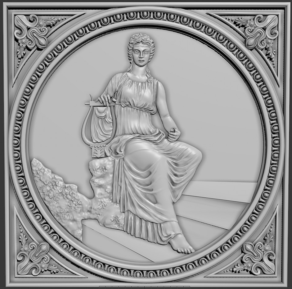 visualisation 3D du projet du Bas-relief ZBrush , rendre Other Alyona