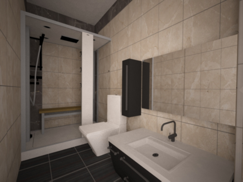 house for a guy in 3d max vray 2.0 image